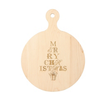"Maple_Leaf_At_Home_""Merry_Christmas""_Round_Board"