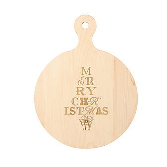 """Maple Leaf At Home """"Merry Christmas"""" Round Board"""