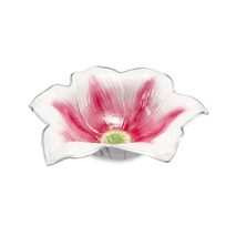 Julia_Knight_Watercolor_Stargazer_Lily_Bowl,_15""