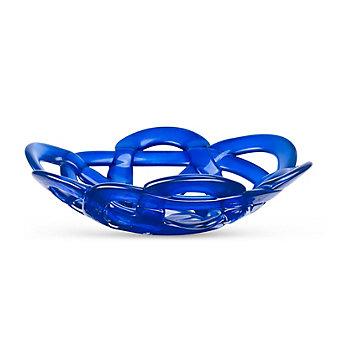 Kosta Boda Small Basket Bowl, Blue