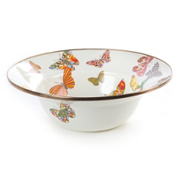 MacKenzie_Childs_Butterfly_Garden_White_Serving_Bowl