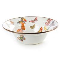 MacKenzie_Childs_Butterfly_Garden_White_Serving_Bowl