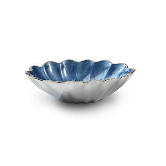 """Julia Knight Azure Oval Peony Bowl, 5"""""""