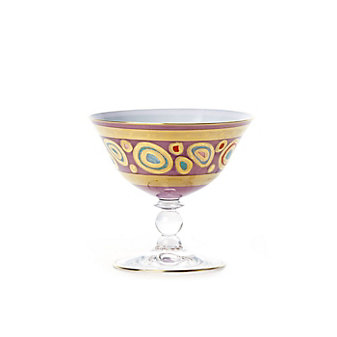 vietri regalia purple dessert bowl
