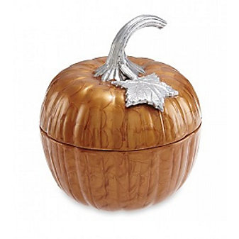 Julia Knight Spice Pumpkin Covered Bowl, 9""