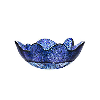 Kosta Boda Organix Bowl Stormy Blue Medium