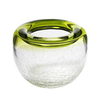 Viterra Ring Chartreuse Crackle Bowl, 6""