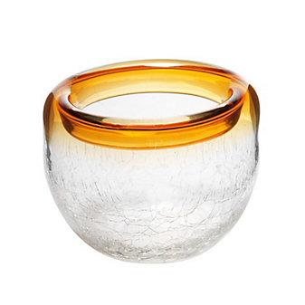 """Viterra Ring Amber Crackle Bowl, 6"""""""
