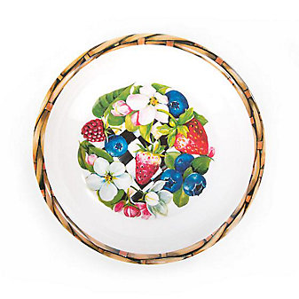 MacKenzie-Childs Berries & Blossoms Bowls - Set of Four