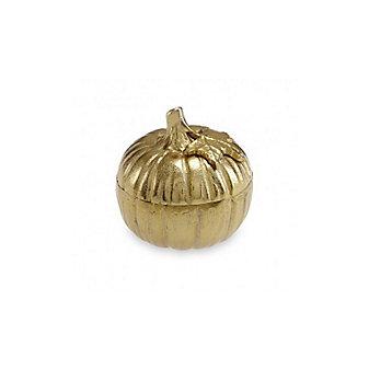 "Julia Knight Gold Pumpkin Covered Bowl, 5"""