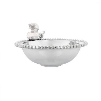 mariposa small rubber ducky binky bowl