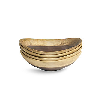 Andrew Pearce Live Edge Black Walnut Set Of Four Bowls