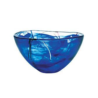 Kosta Boda Contrast Blue Bowl, Medium