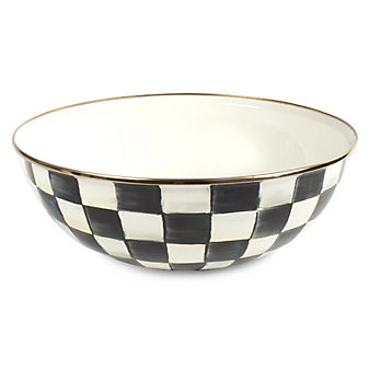 MacKenzie Childs Courtly Check Everyday Bowl X-Large
