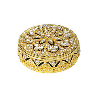 Olivia Riegel Gold Windsor Round Box