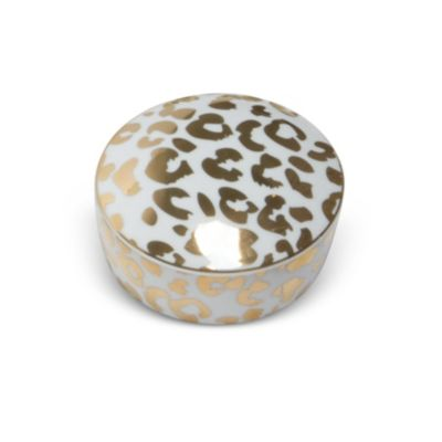 8 Oak Lane Leopard Trinket Box, Gold