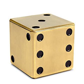 L'Objet Dice Decorative Brass Box