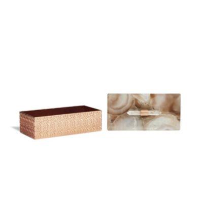 Kendra Scott Rose Gold Rectangle Box 8x4x4