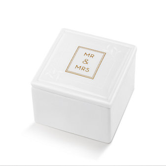 MR & MRS CERAMIC KEEPSAKE BOX