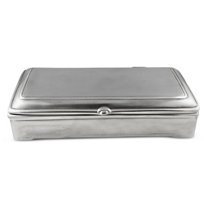 """Match_Rectangle_Lidded_Box_with_Leather,_7""""_l_x_4""""_w_x_1.5""""_h"""
