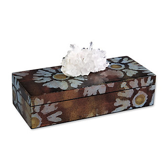 rox by cj designs flower power pencil box with crystal quartz