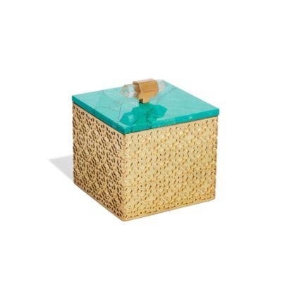 kendra scott square filigree box in variegated teal magnesite