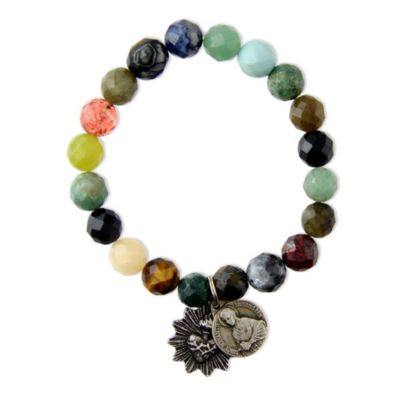 Miracle Icons Mixed Agate Bracelet
