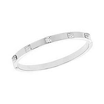 Swarovski_Tactic_Grey_Thin_Bangle_Bracelet