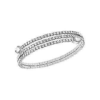 Swarovski Twisty Gray Bangle Bracelet