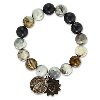 Miracle Icons Picasso Jasper Bead Bracelet