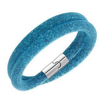 Swarovski Stardust Sky Blue Medium Double Bracelet