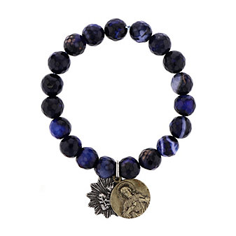 Miracle Icons Multi-Colored Faceted Agate Bracelet