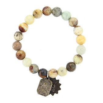 Miracle Icons Flower Jade Bracelet
