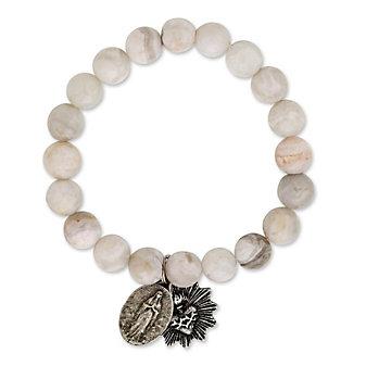 Miracle Icons White Moonstone Bracelet