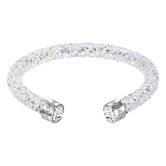 Swarovski Rolled Rocks White Crystaldust Cuff Bracelet