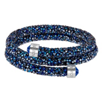Swarovski_Blue_Rolled_Rocks_Crystaldust_Bangle,_Small