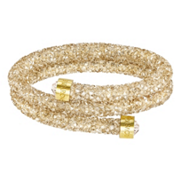 Swarovski_Golden_Rolled_Rocks_Crystaldust_Bangle,_Small
