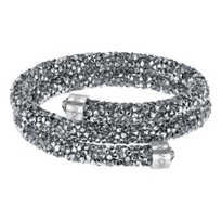 Swarovski_Rolled_Rocks_Chrome_Crystaldust_Bangle,_Medium
