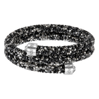 Swarovski_Dark_Rolled_Rocks_Crystaldust_Bangle,_Small