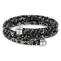 Swarovski_Dark_Rolled_Rocks_Crystaldust_Bangle,_Medium
