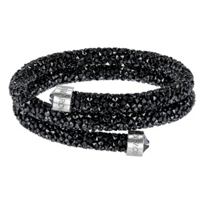 Swarovski_Black_Rolled_Rocks_Crystaldust_Bangle,_Small