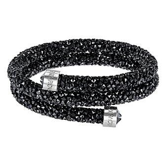 Swarovski Black Rolled Rocks Crystaldust Bangle, Medium
