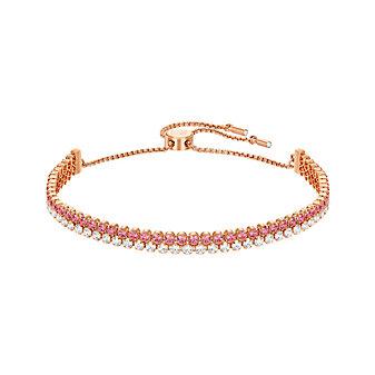 Swarovski Rose-Gold Plated Subtle Bracelet, Medium