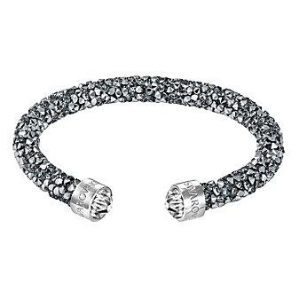 Swarovski Rolled Rocks Crystaldust Cuff Bracelet, Chrome