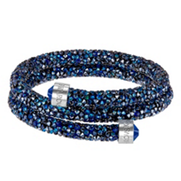 Swarovski_Blue_Rolled_Rocks_Crystaldust_Bangle,_Medium