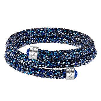 Swarovski Blue Rolled Rocks Crystaldust Bangle, Medium
