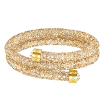 Swarovski_Golden_Rolled_Rocks_Crystaldust_Bangle,_Medium