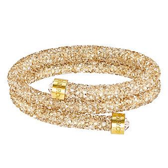 Swarovski Golden Rolled Rocks Crystaldust Bangle, Medium