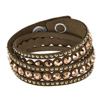 Swarovski_Slake_Brown_Dot_Bracelet,_Medium