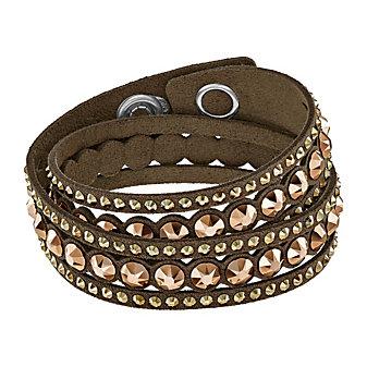 Swarovski Slake Brown Dot Bracelet, Medium